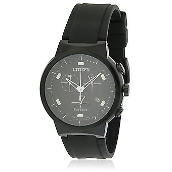 Citizen Eco-Drive Paradex Rubber Chronograph Mens Watch AT2405-01F