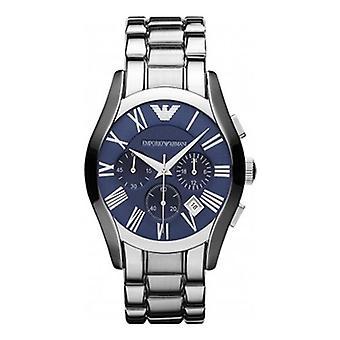 Emporio Armani Ar1635 Valente Silver & Blue Classic Watch