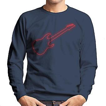 Neon Electric Guitar Men's Sweatshirt