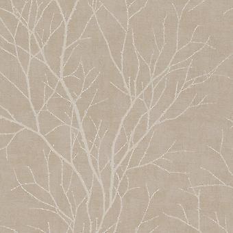 Rasch Twig Tree Branch Pattern Fond d'écran moderne non tissé Texturé 455908