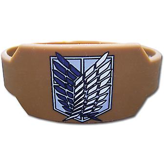 Wristband - Attack on Titan - New Scout Regiment Brown Anime Gifts ge64034