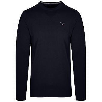 Gant Superfine Lambswool marinblå tröja