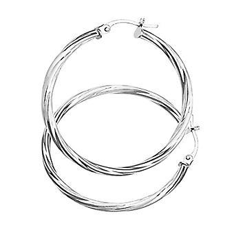 Citerna Women's Hoop Earrings in White Gold 9K UER039W