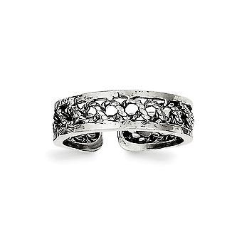 925 Sterling Sølv Antiqued og polert Tå Ring Smykker Gaver til kvinner - 1,5 Gram