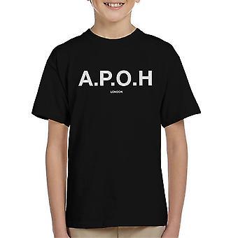A. P. O. H klassisk hvid logo kid ' s T-shirt