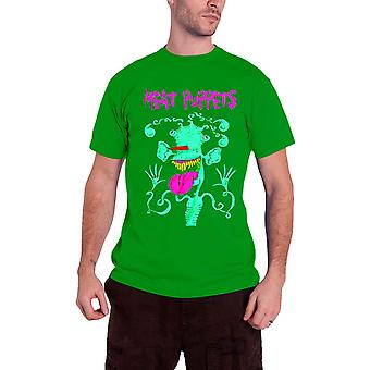 Meat Puppets T Shirt Monster band logo new Official Mens Green