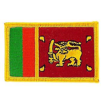 Aufnäher Ecusson Brode Flagge Sri Lanka Sri Lankais Thermocollant Insigne Blason
