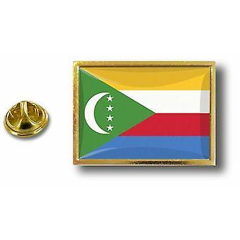 Pins Pin Badge Pin's Metal  Avec Pince Papillon Drapeau Comores Comorien