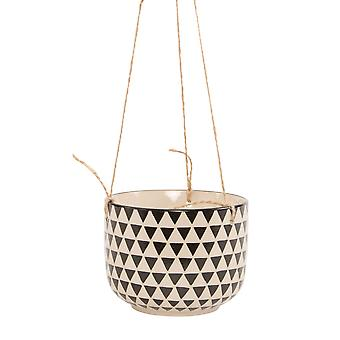 Sass & Belle Black Geo Isla Planter