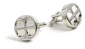 Car Engine Piston Chrome Metal Cufflinks in gift box