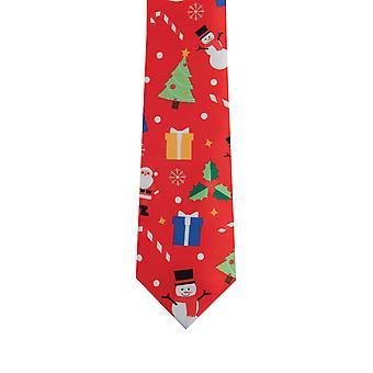 Dobell Mens Festive Fun Red Christmas Musical Tie
