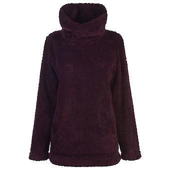 Gelert Womens Ladies Yukon Cowl Neck Long Sleeve Cosy Fleece Jumper Top