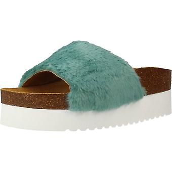 Yellow Sandals Fluffy Turquoise Color