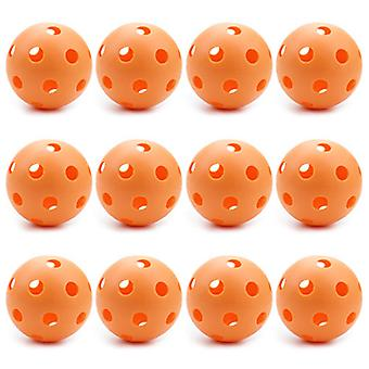 12 Orange Poly Baseballs (Regulation Size)