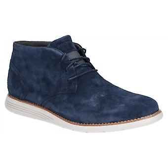 Rockport Total Motion Sportdress Mens Suede Ankle Boots Navy