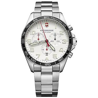 Victorinox field watch quartz analog man watch with stainless steel bracelet V241856