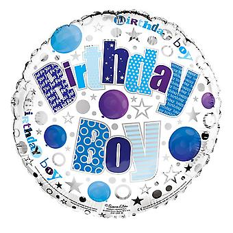 Simon Elvin 18 Inch Birthday Boy Round Foil Balloon