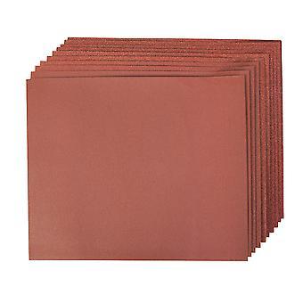 Aluminium Oxide Hand Sheets 10pce - 4x60 2x80 120 240G