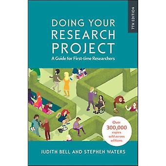 Doing Your Research Project Doing Your Research Project A G by Judith Bell