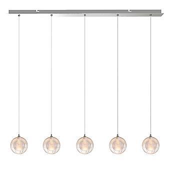 Modern Nickel Pendant Ceiling Lamp Light Living Room 5 Pendant Rectangular Canopy