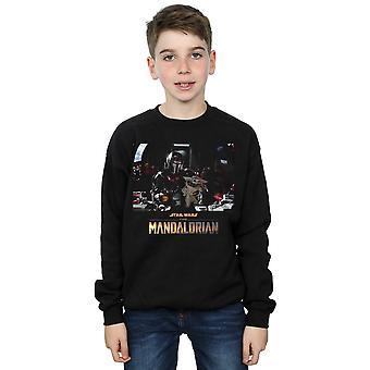 Star Wars Boys The Mandalorian Child On Board Sweatshirt
