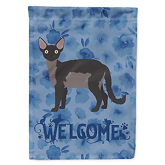 Carolines skatter CK4867CHF Anvende Rex katten velkommen flagg Canvas huset størrelse