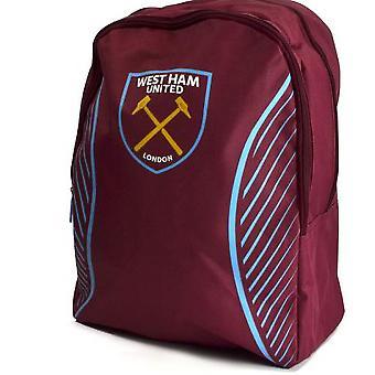 West Ham FC Official Football Swerve Backpack/Rucksack