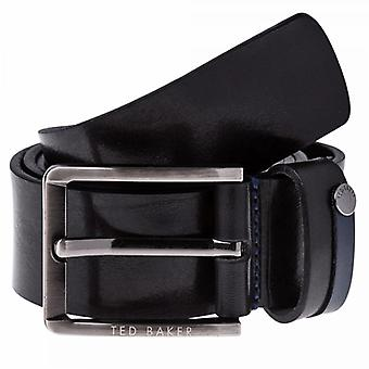 Ted Baker Keepsak Black Casual Leather Belt