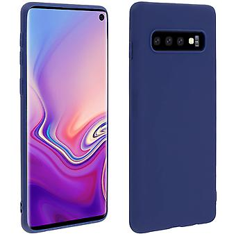 Case for Samsung Galaxy S10, soft touch cover, silicone case - Blue