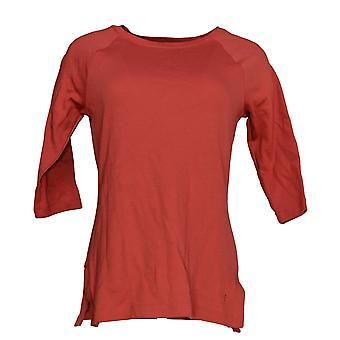 Isaac Mizrahi Live! Women's Top Essentials Raglan Tee Red A367690