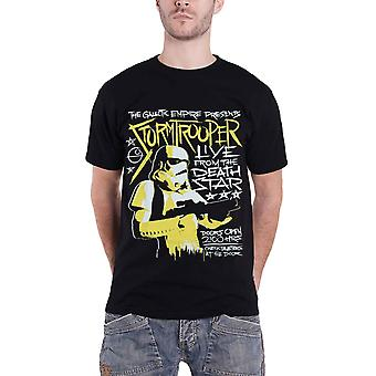 Official Mens Star Wars T Shirt Stormtrooper Rock Poster empire new Black