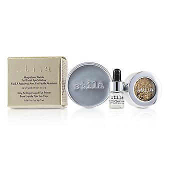 Magnificent Metals Foil Finish Eye Shadow With Mini Stay All Day Liquid Eye Primer - Gilded Gold 2pcs