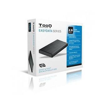 """External Box TooQ TQE-2527B HDD 2.5"""" SATA III USB 3.0 Black"""