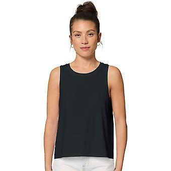greenT Womens Organic Cotton Dancer Loose Fit Crop Tank Top