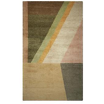 Alphonse Geometric Viscose Rugs In Ochre By Designers Guild