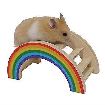 Rosewood Boredom Breaker Small Animal Activity Toy Rainbow Play Bridge, Petit