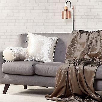 Cambio de sofás 140 cm x 240cm suave terciopelo picado tiro-chocolate