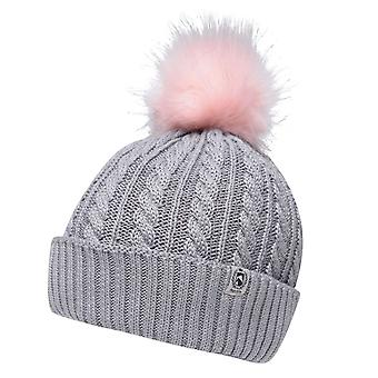 Requisite Womens Ladies Cable Knit Pompom Winter Bobble Hat