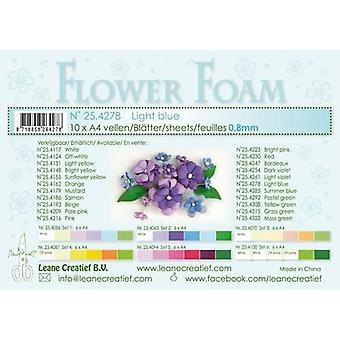 Leane Creatief Flower Foam Sheets A4 Light Blue