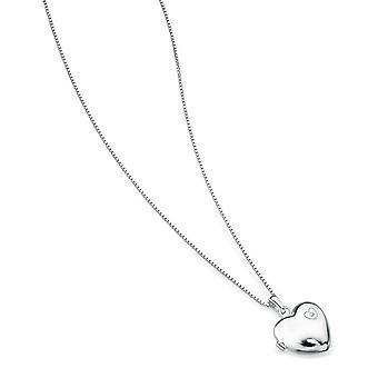 D For Diamond - Large Heart Locket P2548
