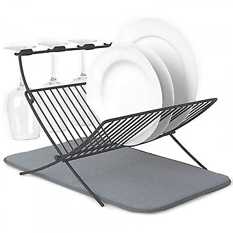 Umbra XDry Folding Dish Rack & Drying Mat