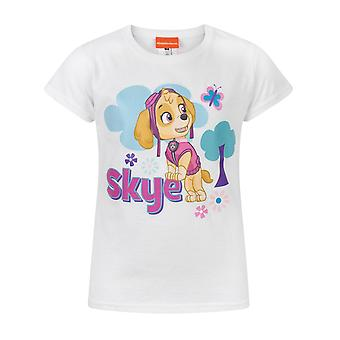 Paw Patrol Skye White Short Sleeve Kids Girl's T-Shirt