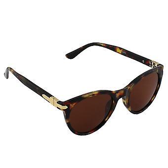 Sunglasses UV 400 Wayfarer Polarizing Glass Brown S374_2 FREE BrillenkokerS374_2
