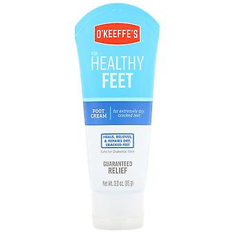 O'keeffe's healthy feet cream tube, 3 oz