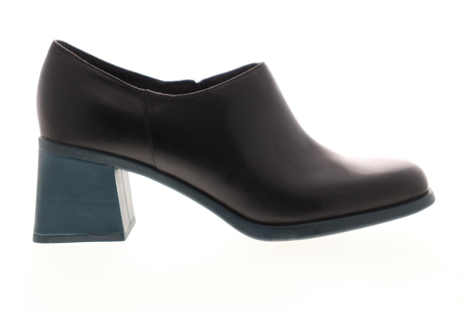 Camper Karolina Dame sort læder slip på casual kjole støvler
