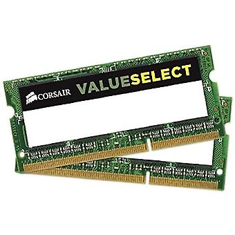 Corsair CMSO8GX3M2C1600C11 Value Select Memoria da 8 GB (2x4 GB), DDR3, 1600 MHz, CL11