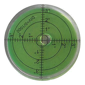 Halbtransparente große Spirit Bubble Ebene (grüne Flüssigkeit) 66mm Durchmesser