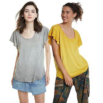 Desigual Women's Madrid Floral devoré design Floaty T-shirt