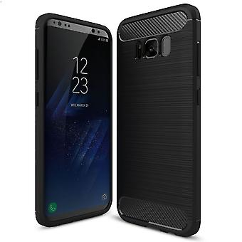 Shell pour Samsung Galaxy S8 Case Protection TPU Slim Armor Carbon Fiber Black