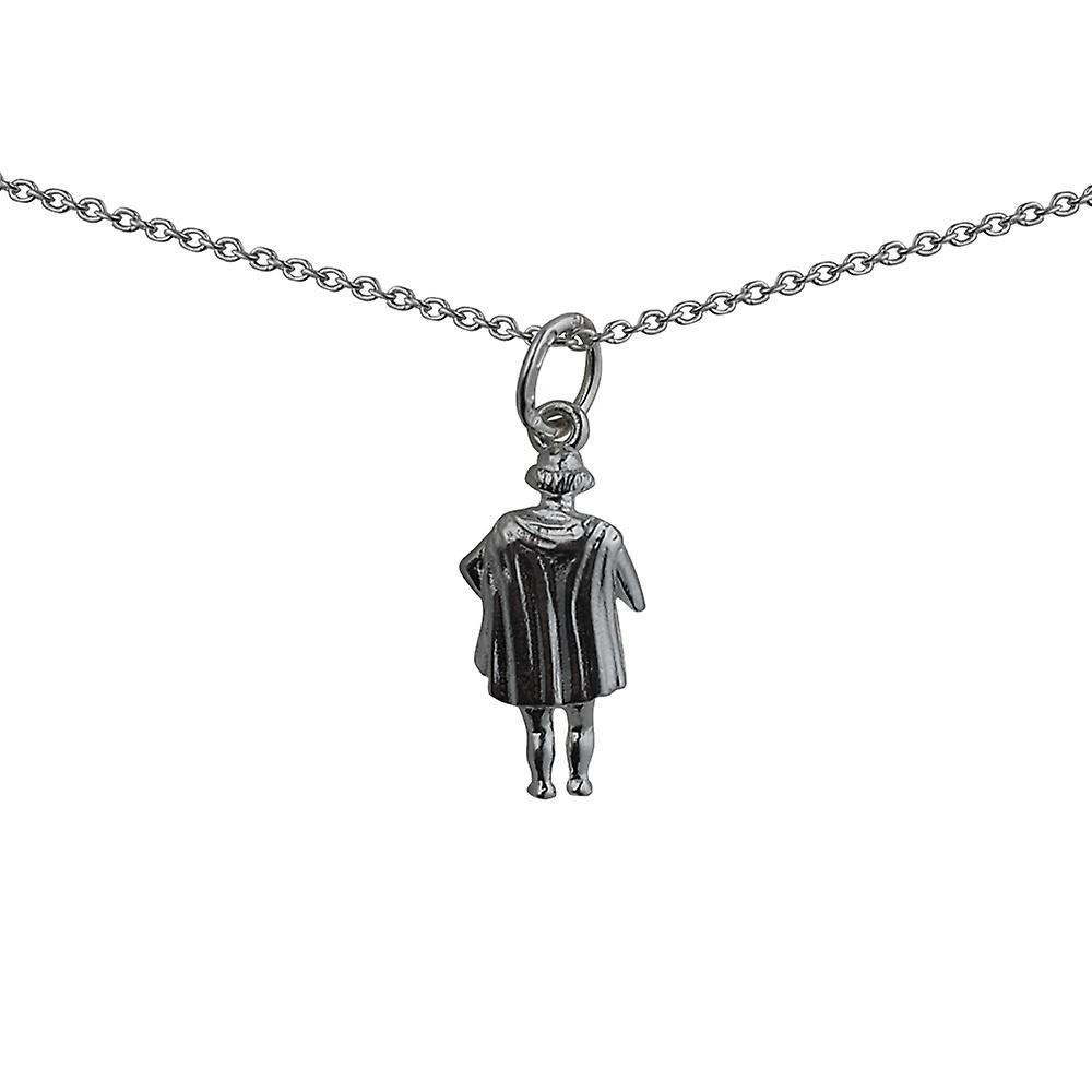 17x9mm William Shakespeare Anhänger mit einem Rolo Kette 24 Zoll Silber